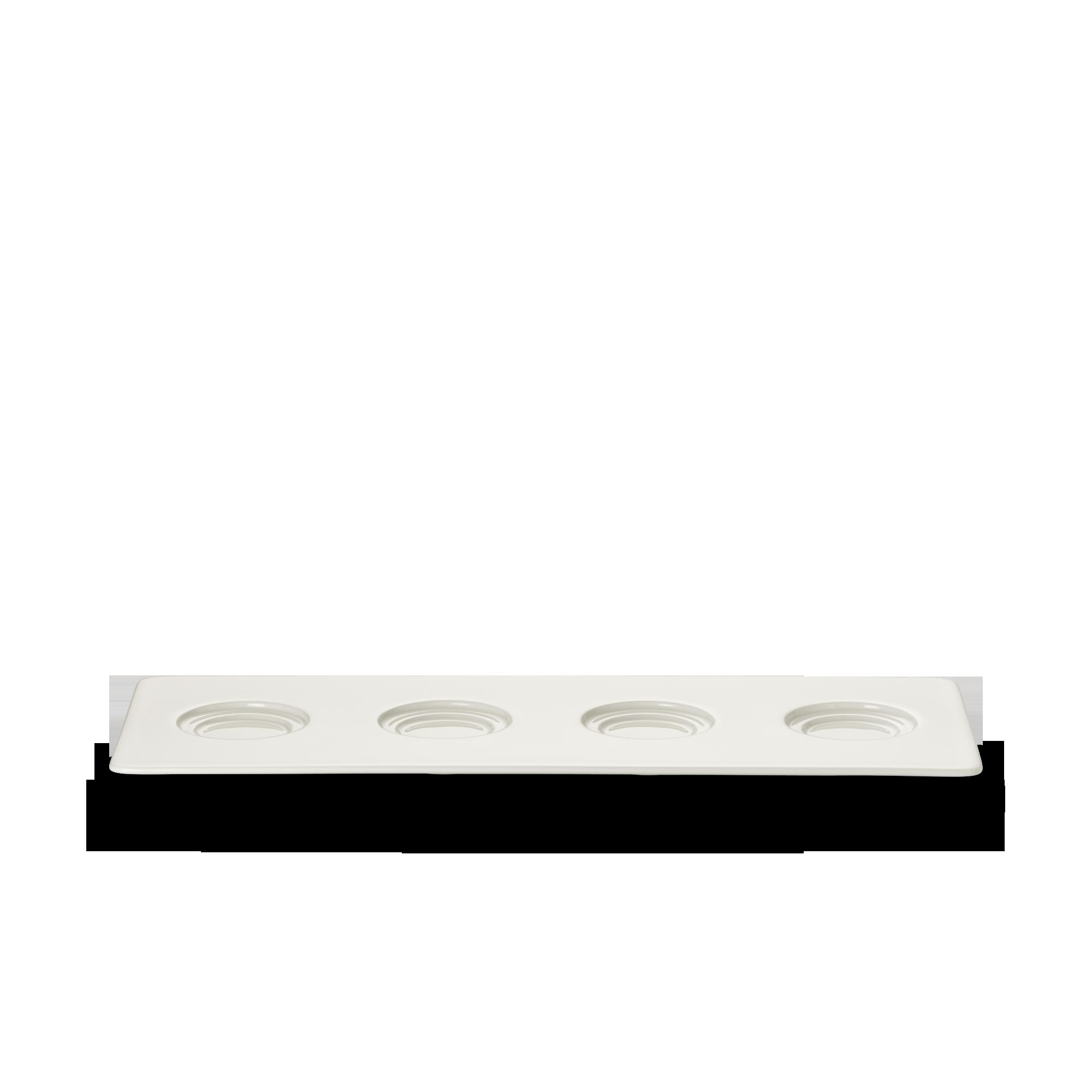 Tablett 13x34 cm 4 Spiegel Fine Bone China Konisch-Zylindrisch Weiss Dibbern
