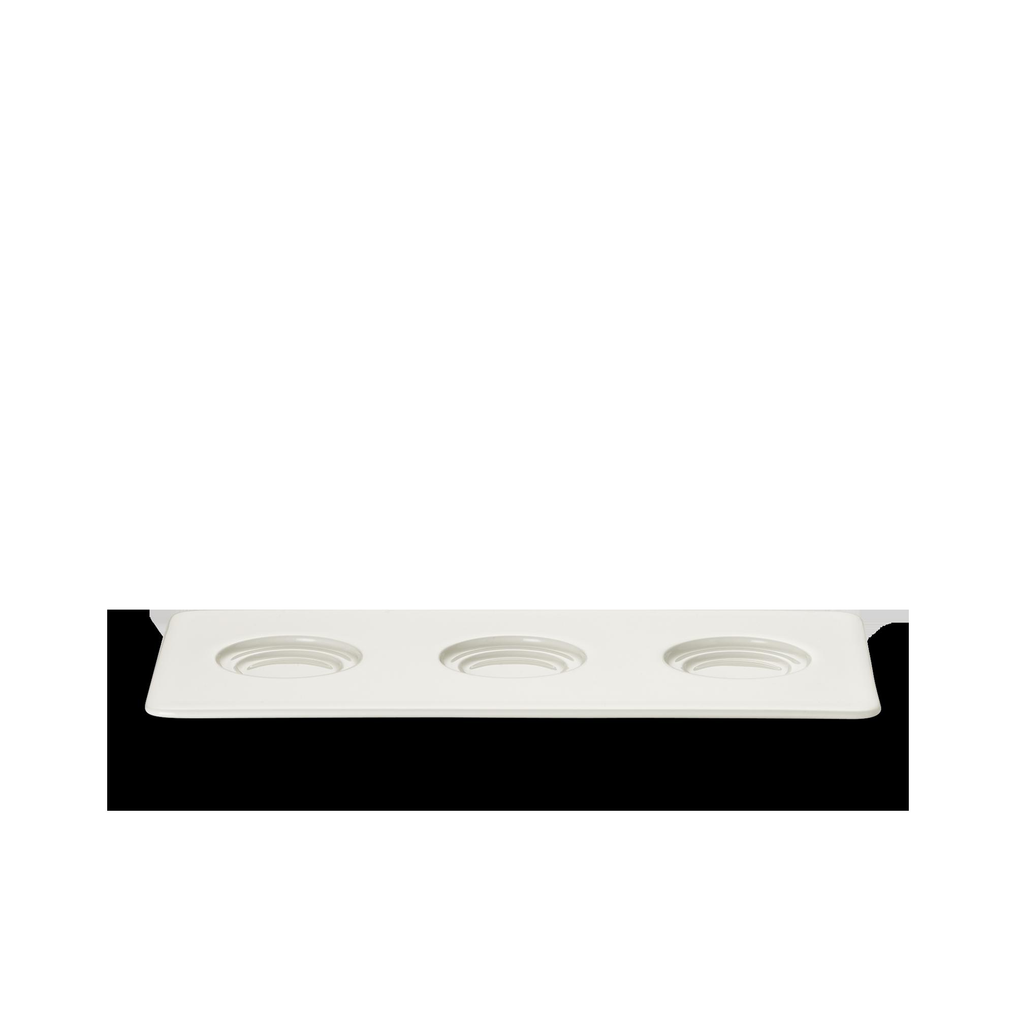 Tablett 13x26 cm 3 Spiegel Fine Bone China Konisch-Zylindrisch Weiss Dibbern