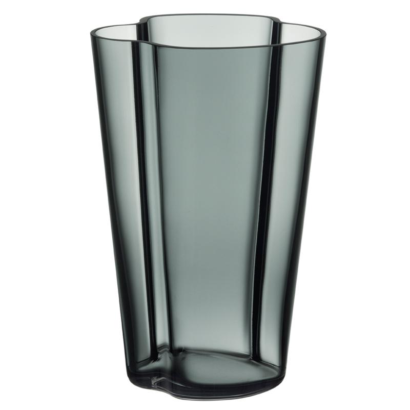 Vase – 22 cm - Dunkel Grau Aalto Iittala