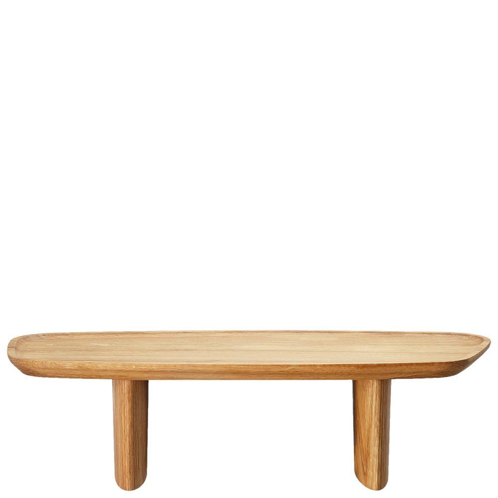 Tablett auf Fuß 40x18 cm Junto Holz Rosenthal