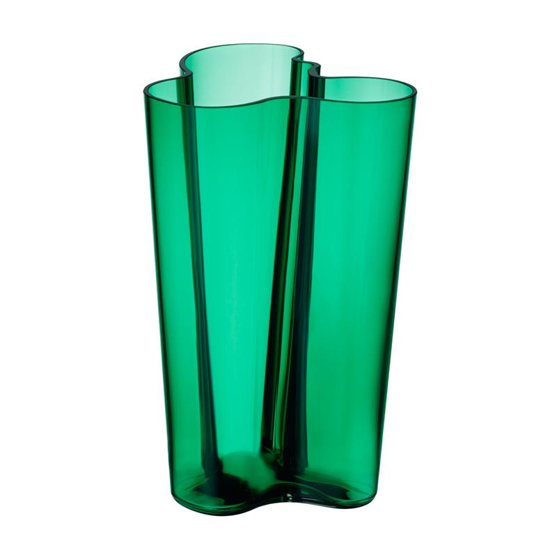 Vase – 25,1 cm - Emerald Aalto Iittala