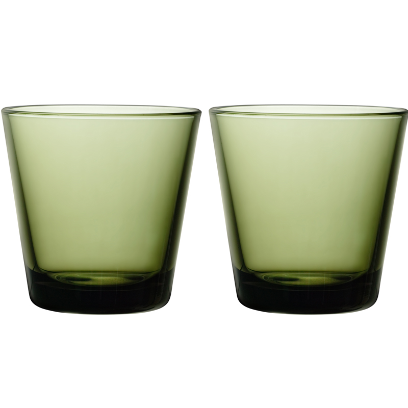 Glass - 210 ml - Moosgrün - 2 Stück Kartio Iittala