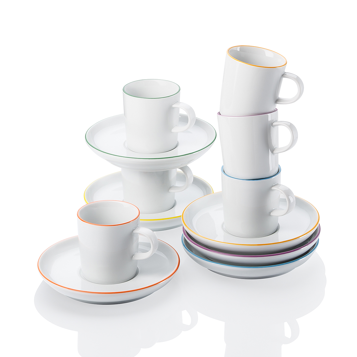 Espresso-Set 12-tlg. GK Cucina-Basic Colori Arzberg