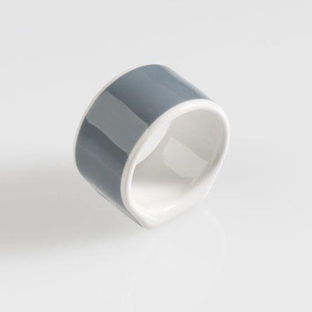 Serviettenring Solid Color Grau Dibbern