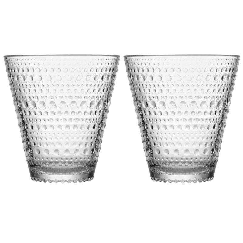Glas – 300 ml - Klar - 2 Stück Kastehelmi Iittala