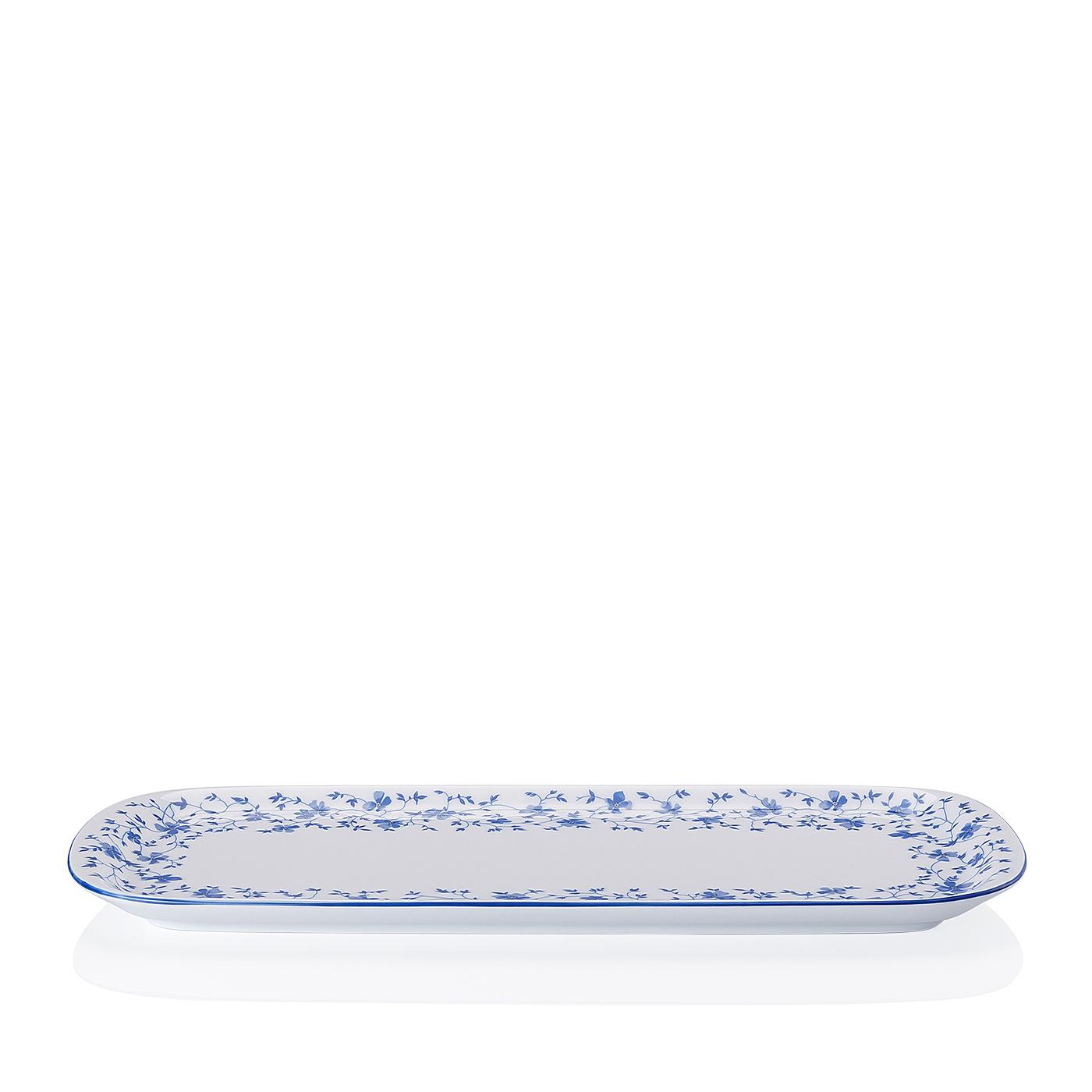 Kuchenplatte rechteckig Form 1382 Blaublüten Arzberg