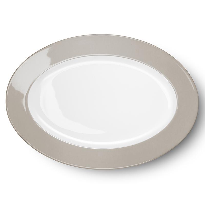 Platte oval 36 cm Solid Color Kiesel Dibbern