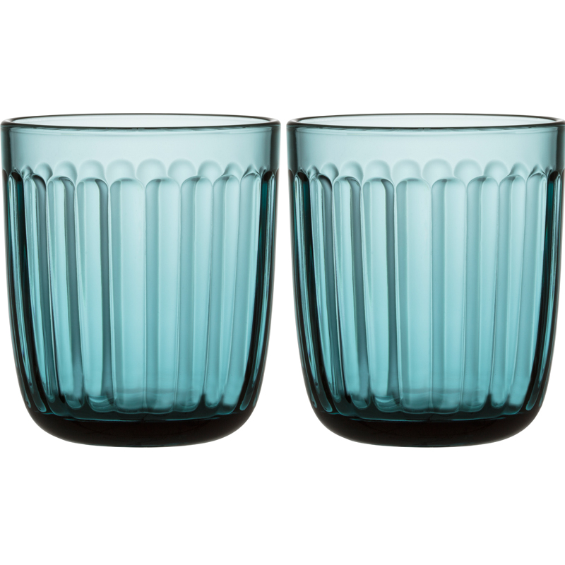 Glas – 260 ml - Seeblau - 2 Stück Raami Gläser Iittala