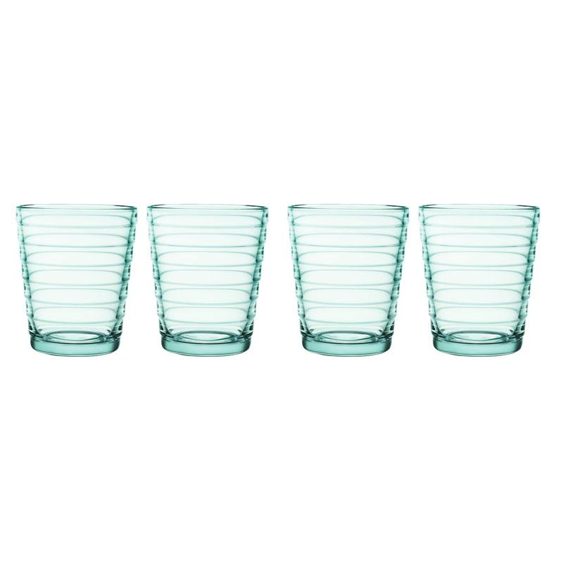 Glas - 220 ml – Wassergrün - 4 Stück Aino Aalto Iittala