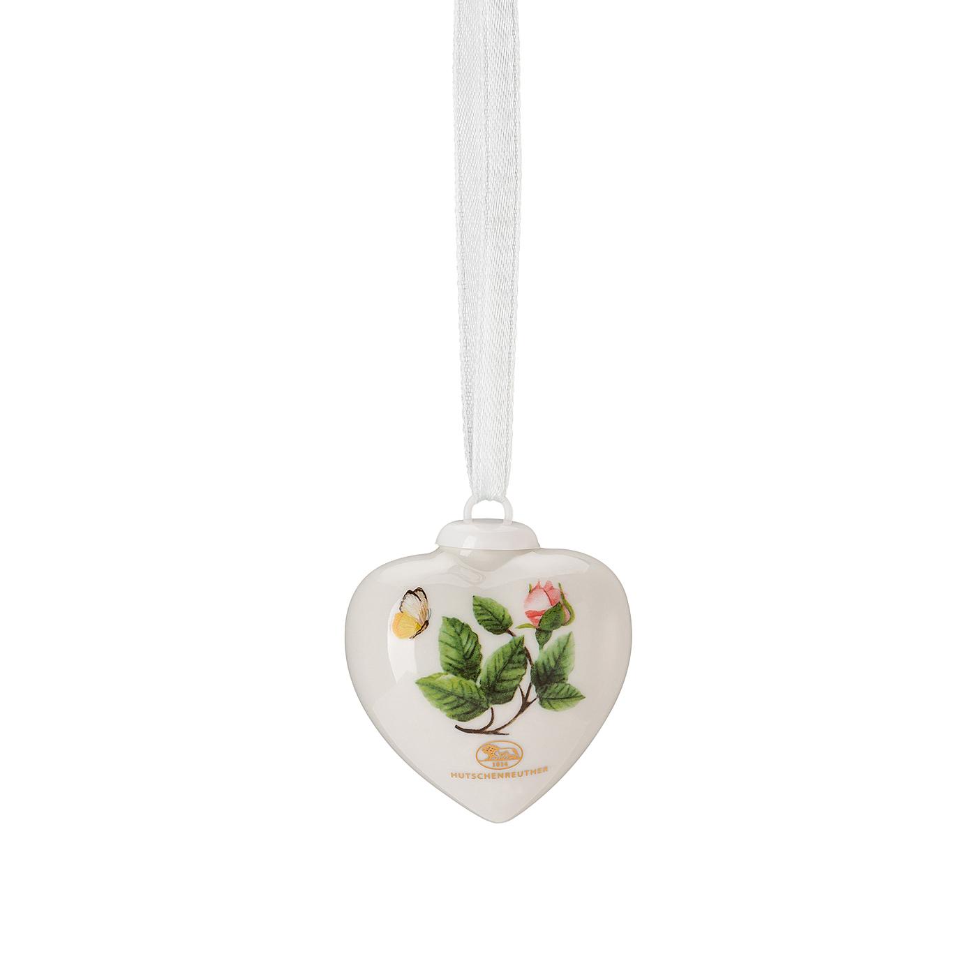 Porzellan-Mini-Herz Frühlingsgrüsse Heckenrose - rosé Hutschenreuther